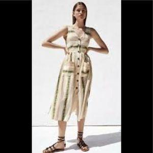 Zara Linen / Cotton Dress